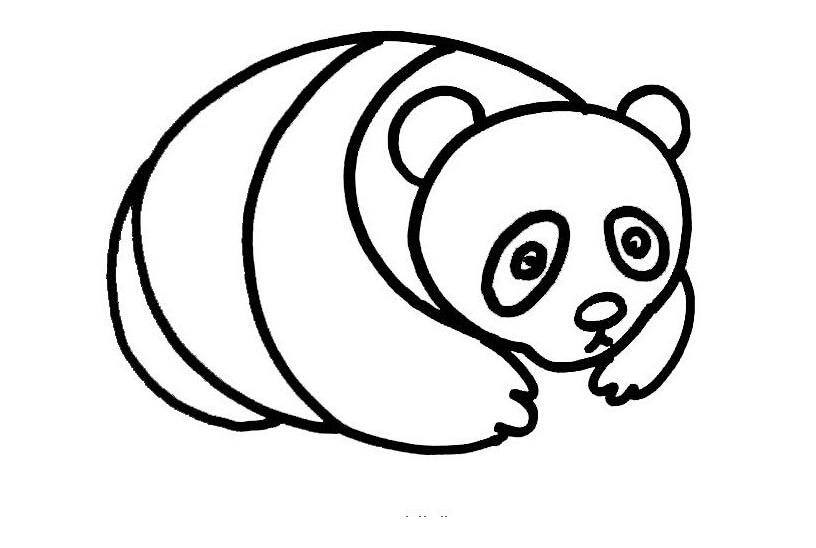 熊猫竹子简笔画卡通
