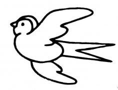 可爱小鸟简笔画 麻雀