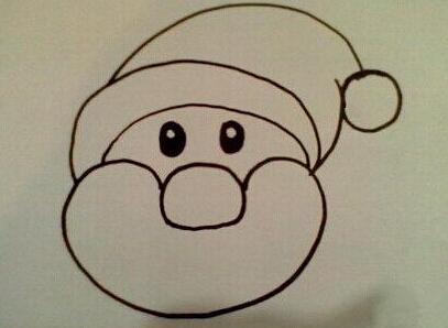 幼儿画圣诞老人 圣诞老人简笔画教程图片