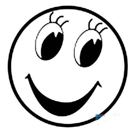 卡通笑脸表情简笔画