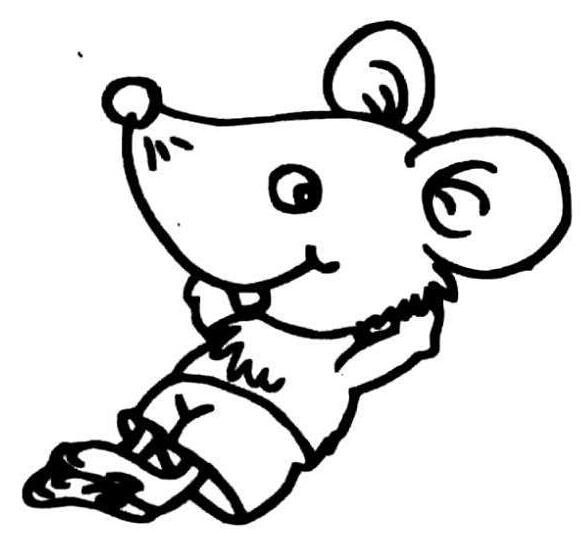 老鼠的简笔画:小老鼠的梦想图片