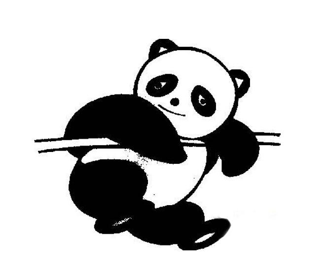 动物简笔画 大熊猫